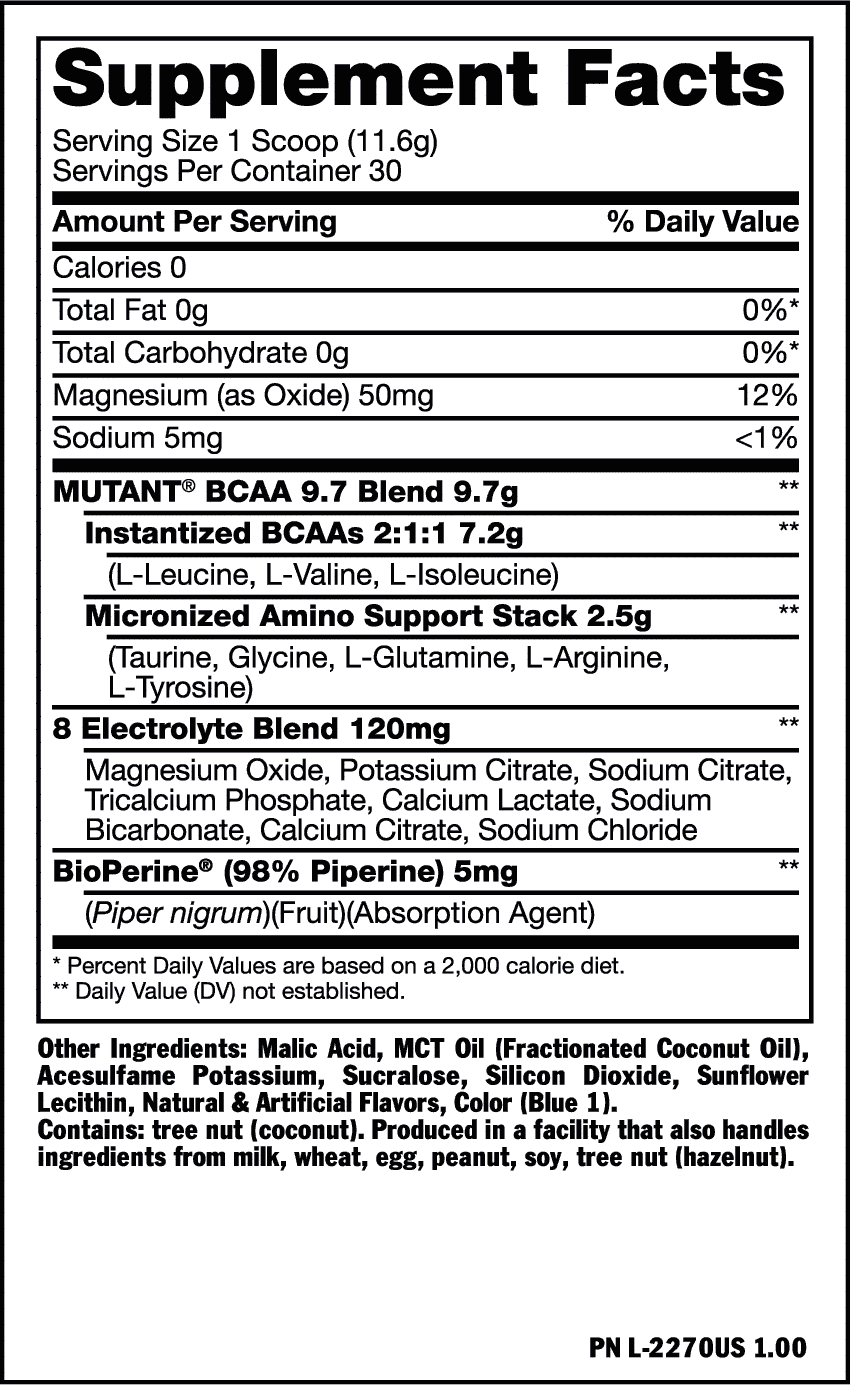 Mutant Bcaa Ingredientes