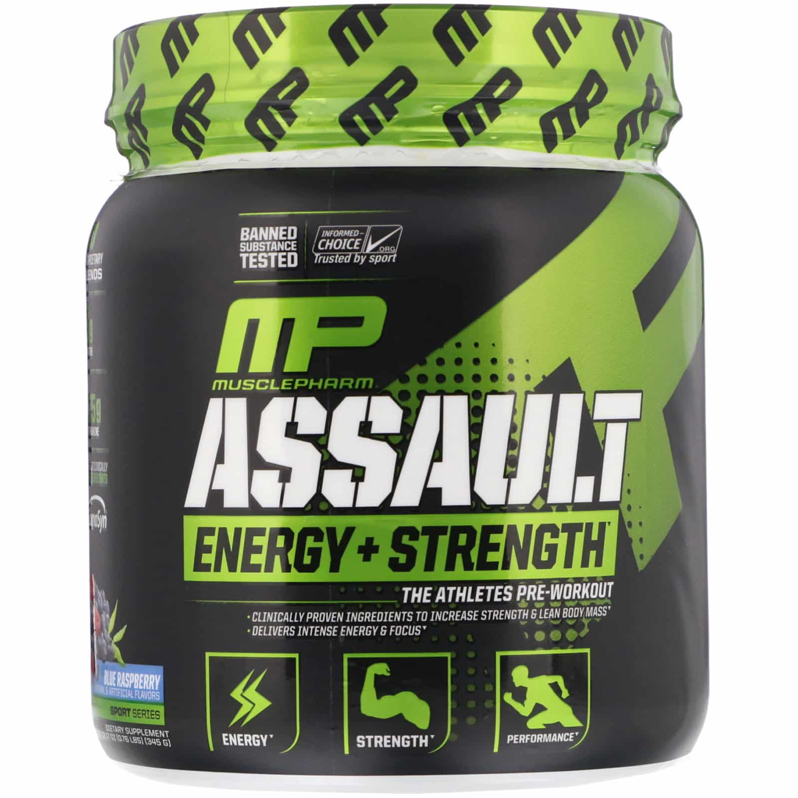 MusclePharm Assault Blue Rasberry